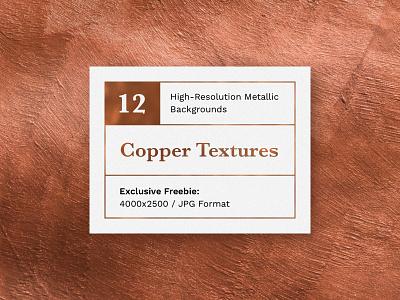 Freebie: 12 Sumptuous Copper Textures assets design graphic artistic art background texture metallic metal copper download freebie free blog thedesignest