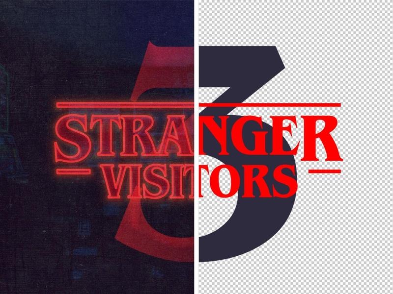 Stranger Things Free Font Effect