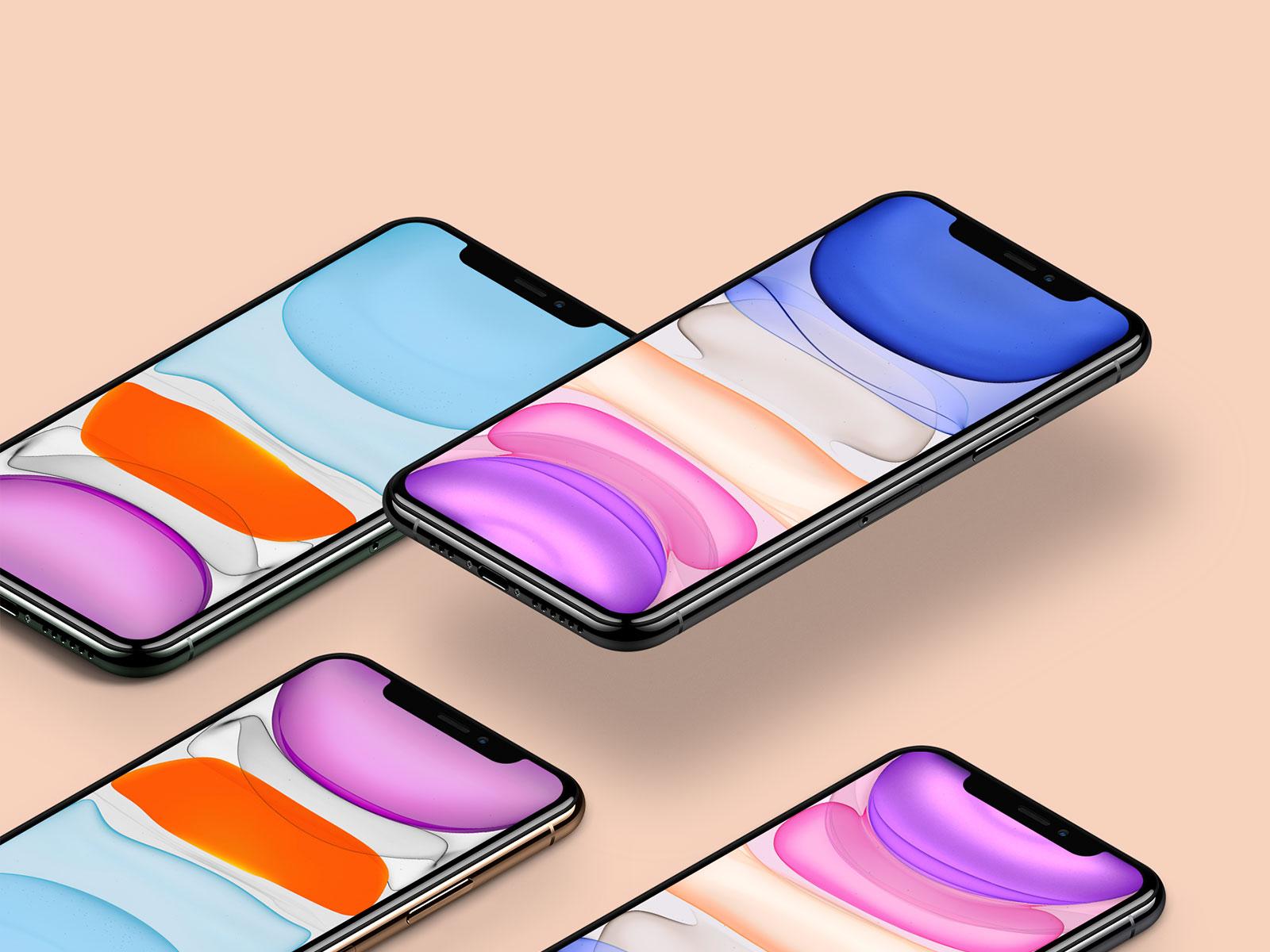 Free iPhone 11 Pro Mockup Set