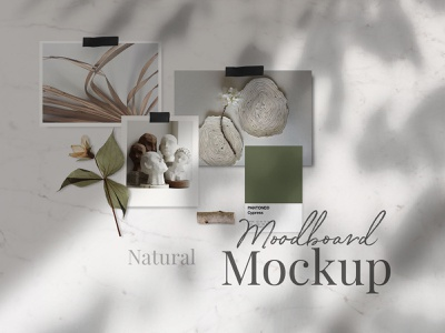 Freebie Natural Moodboard Templates natural overlay shadow moodboard mood instagram pinterest social network social mockup template mockup art design photoshop psd download freebie free blog thedesignest