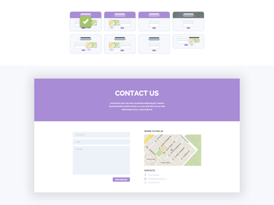 Contact Form: Layout Selection user interface ui design themeforest wordpress form contact