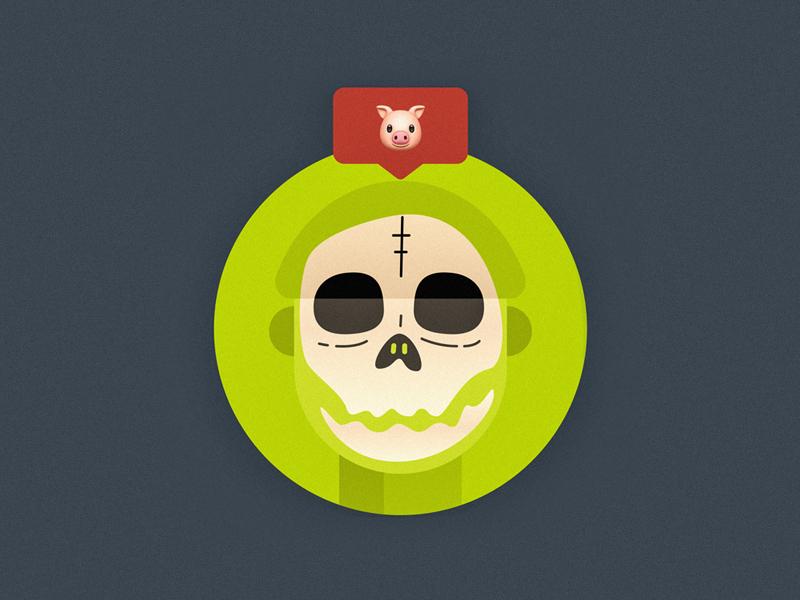 Avatar josk new year red shantou blue pig green illustration avatar