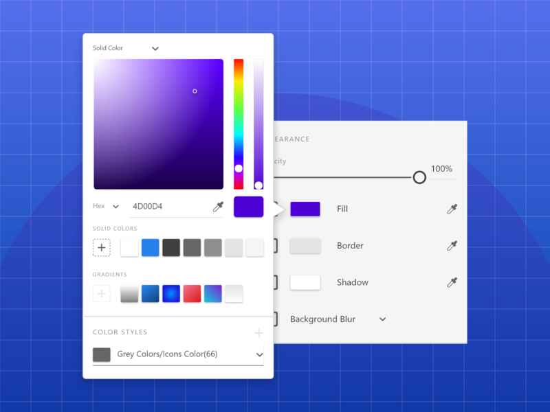 Color Picker for Adobe XD color styles clean designs ui colors color wheel color color picker exploration design adobexd concept ux