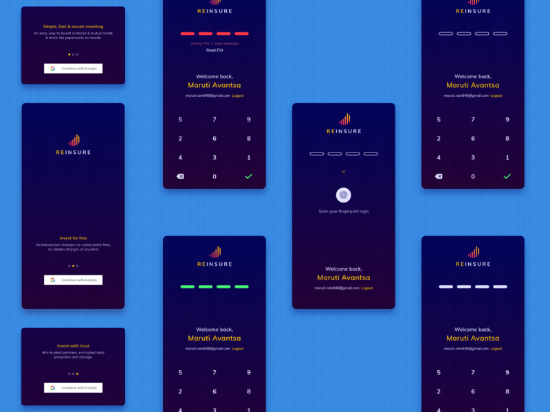 Finance app: SignIn/Signup dark theme dark mode dark ui financial app product design acount finance finance app login signup sign in mobileapp design exploration ui