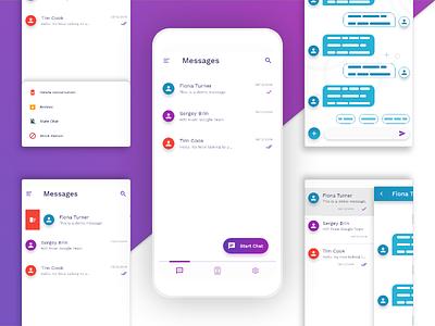 Messages App | Redesign materialdesign material mobileapp ux ui design messagesapp