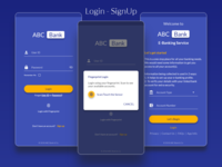 E-Banking Service | Login-Signup Flow