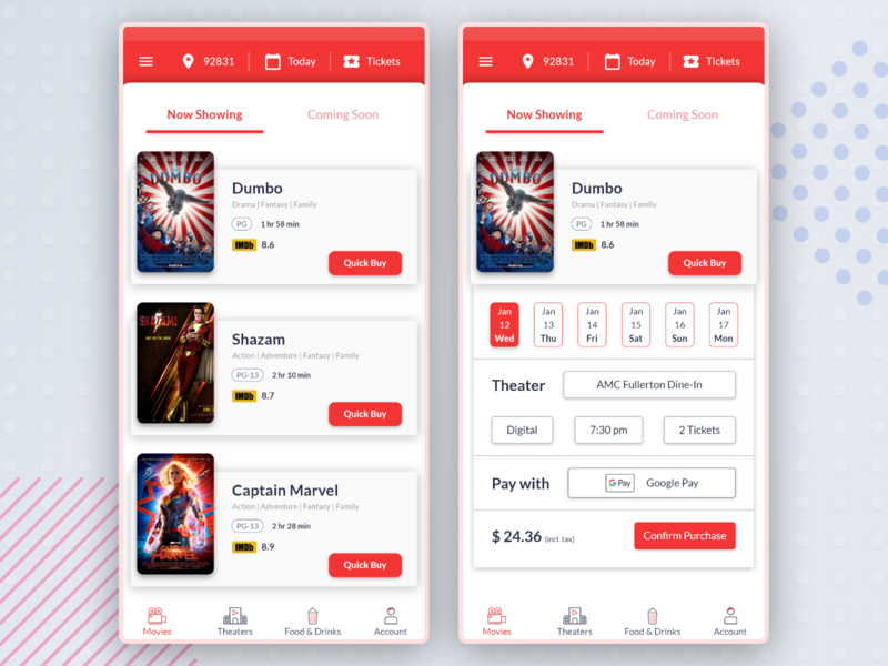Movie App: Home Screen Exploration adobexd concept quick booking quick reservartion movie booking movie app exploration design mobile app app design ux ui