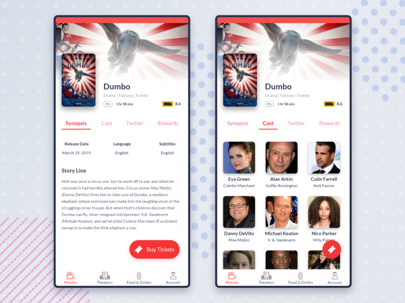 Movie App: Movie Details Page movie ticket movie app movie booking details page movie card exploration mobile app app design ux ui