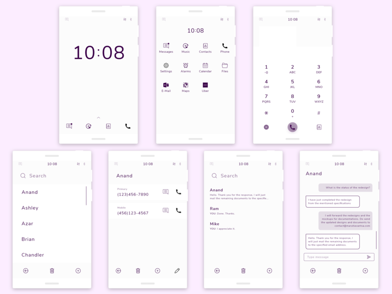 Tech Detox: Minimal Mobile OS mobile os mobile device minimal exploration concept ux conceptdesign digital wellbeing tech detox digital detox concept design