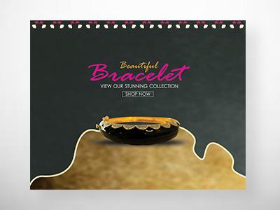 jewellery items bracelet website banners design by go-designy