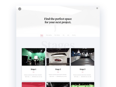 Thunder Studios - Stages landing page redesign production studio studio agency music webdesign ui ux