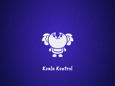 Koala Kontrol sound youtube channel intro flying cute koala purple fun animal design after affects motion graphics illustration logo gif animation 2d