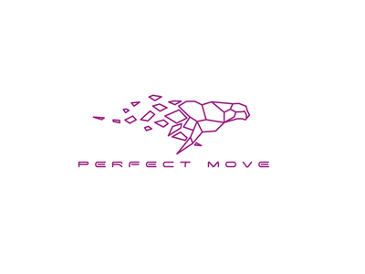 Perfect Move concept sketch black and white identity illustration run animal character minimal design after affects vector motion graphics typography black logo gif animation 2d