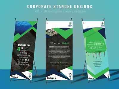Customized corporate standee