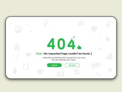 404 Error Page design - Oops...