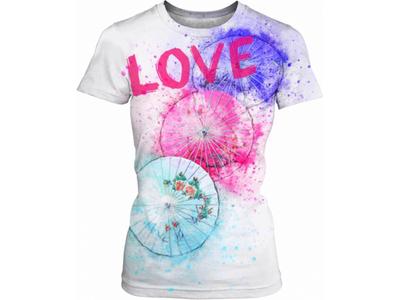 Watercolor Umbrella Women's T-shirt