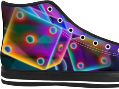Neon Dice Hi Top Shoes