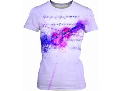 Violin Watercolor Women's T-shirt