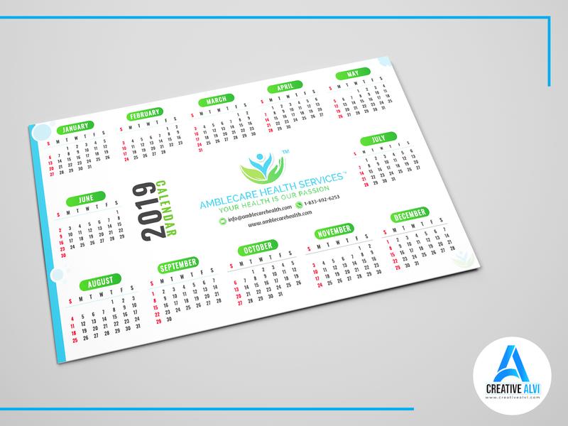 Pocket Calendar.Pocket Calendar 2019 By Alvi Al Yeadin On Dribbble