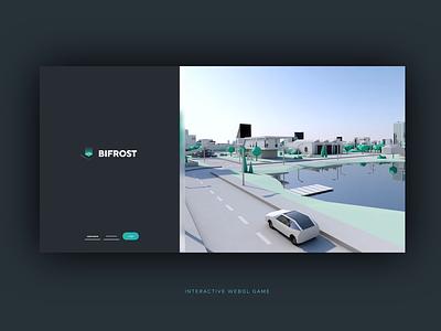 Interactive webgl game /3D city interface design ui ux animation motion design interactive bifrost collada siemens pixelart game webgl web 3d design