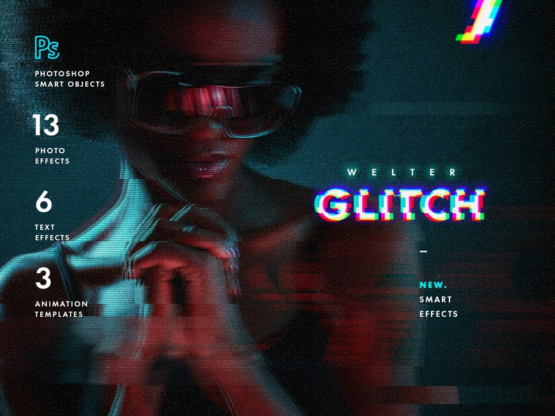 Welter Glitch Effects hipster ghost old rgb analog retro grunge layer style anaglyph glitches distortion effect tv vhs glitch