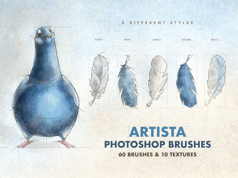 Artista Photoshop Brushes sketching character artistic pack set vintage paint collection painting drawing sketch grunge texture spray illustration photoshop brushes brush