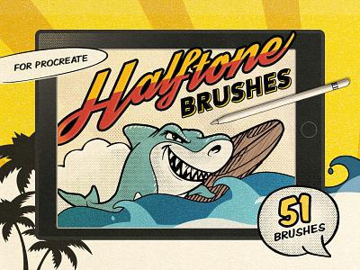 Vintage Comic Procreate Brushes pixelbuddha effect digital art halftone brushes halftone vintage retro comic brushes procreate brushes brush ipad procreate