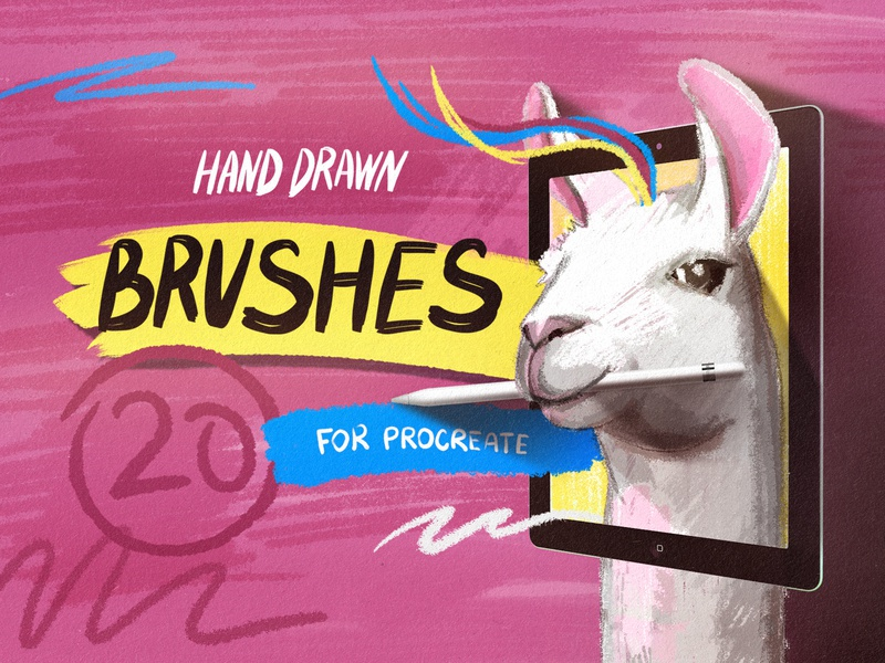 Hand Drawn Brushes for Procreate