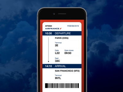 Boarding Pass #dailyui 024