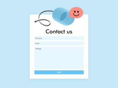 Contact Us #dailyui 028