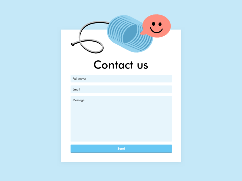 Contact Us #dailyui 028 illustration blue contact ui 028 dailyui