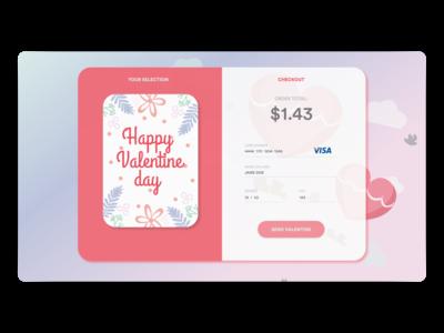 CheckoutValentine Card for Charity – Daily UI 002
