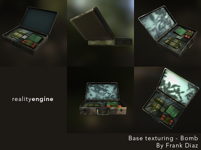 Bomb Base Texture 3d game dev maya