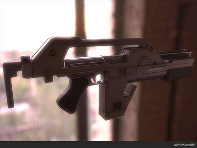 Pulse Rifle 3d maya game dev