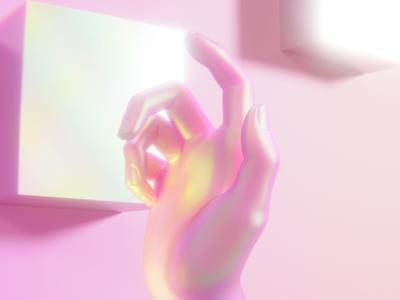 Heal feminine beautiful glowing rendered renders render blendercycles blender3dart blender 3d blend blender3d blender 3d 3d artist 3d art pink cute hand pearl heal