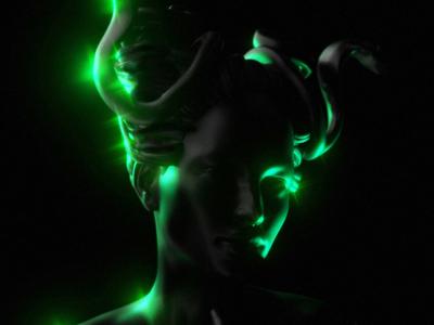 Medusa female woman renders render blendercycles blender3dart blender 3d blender3d blender 3d artist 3d art 3d dark mythological mythology greek mythology greek god greek green medusa