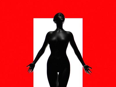 ASCENT black  white black red float female woman abstract art minimal abstract blendercycles blender3dart blender 3d blender3d blender 3drendering 3drender 3d artist 3d art 3d