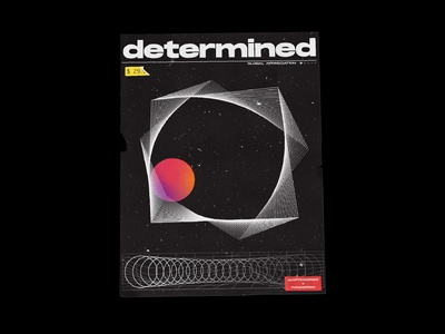 determined - Poster Design feat. Scripts and Pngs