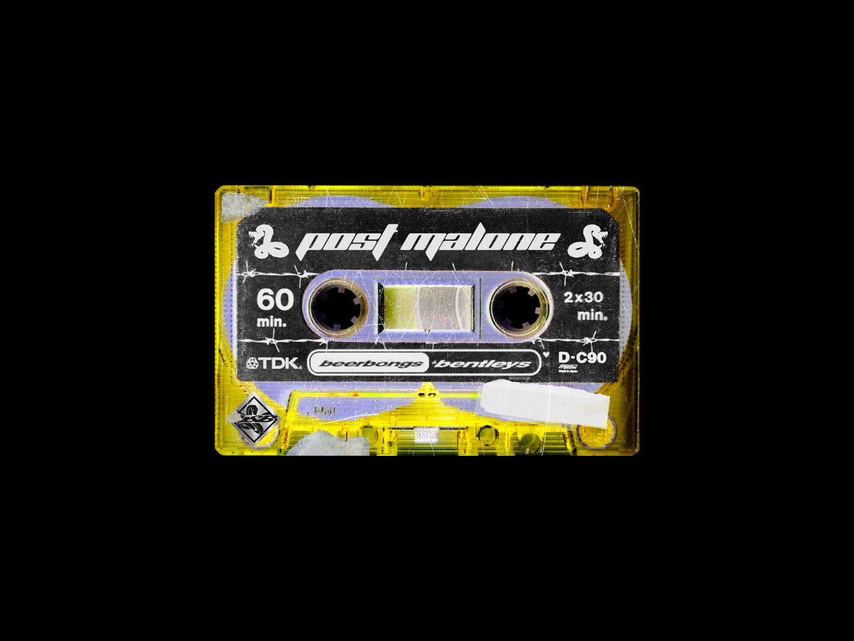 Post Malone - Beerbongs & Bentleys - Cassette Artwork by