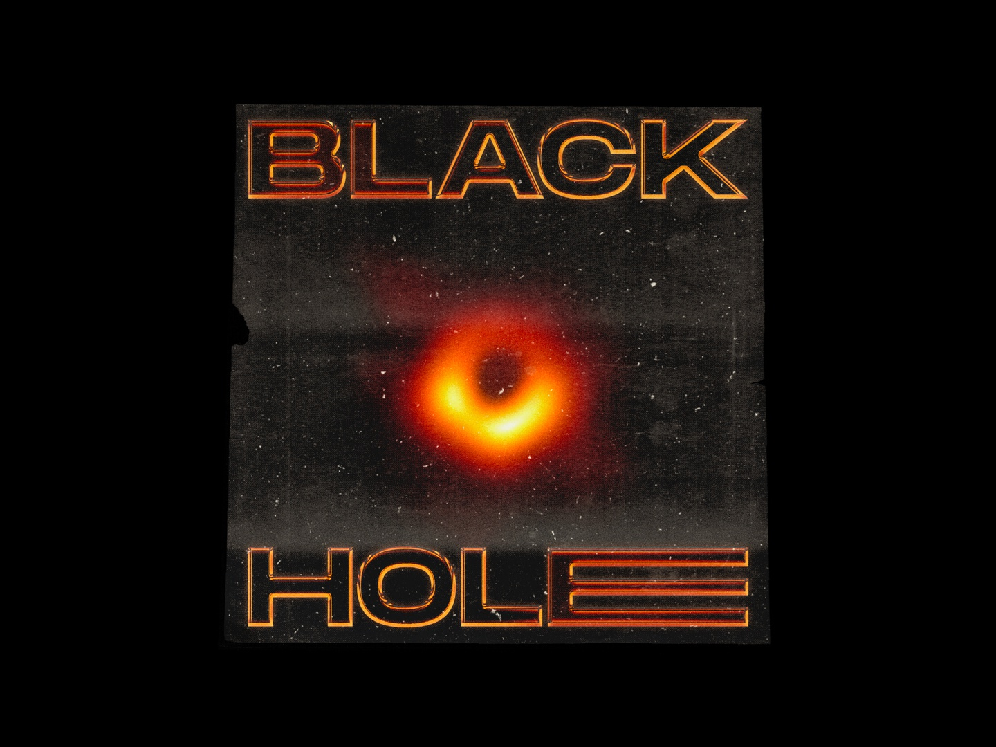BLACK HOLE - Poster Design 2019 trend grunge texture grunge typography type minimal design graphicdesign graphic design poster challenge poster a day poster art poster design poster chrome black and red space blackhole black hole