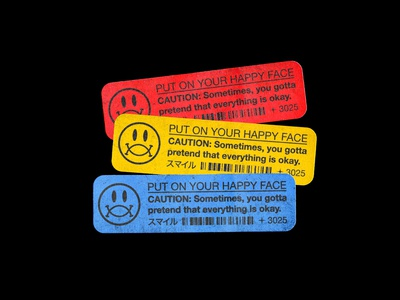 PUT ON YOUR HAPPY FACE - Sticker Design