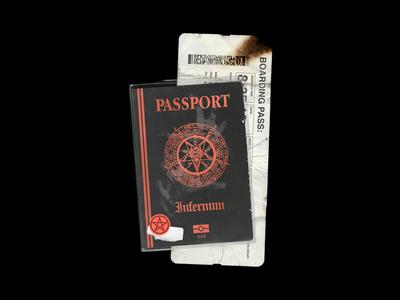 Passport & Boarding Pass Mockup