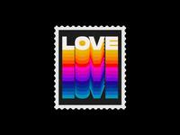 LOVE - Stamp Design