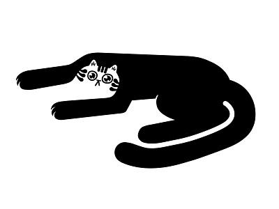Recoil kitty vector illustration flat illustration kitty cat flatdesign flat icon character design vector concept logo character illustration black cat