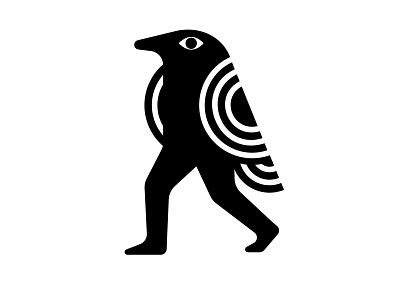 crow magnon logodesign brand design brand identity bird icon bird bird logo iconography character design vector flat branding logo icon people character design illustration