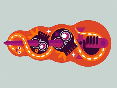 sword and snake merch flat design symbol vector branding icon illustration hand skulls skull snake sword