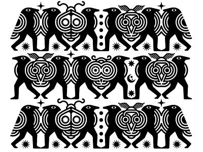 CrowMothBirdBeast seamlesspattern background seamless brand vector icon graphic pattern graphic design logo characterdesign bird moth crow patterndesign pattern character design flat branding illustration