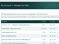 Manage Files Table