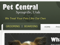 Pet Central Header and Navigation