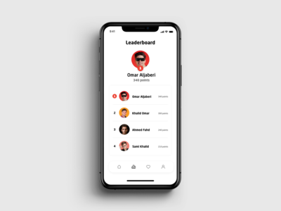 LeaderBoard UI dailyui 020 app ux ui design